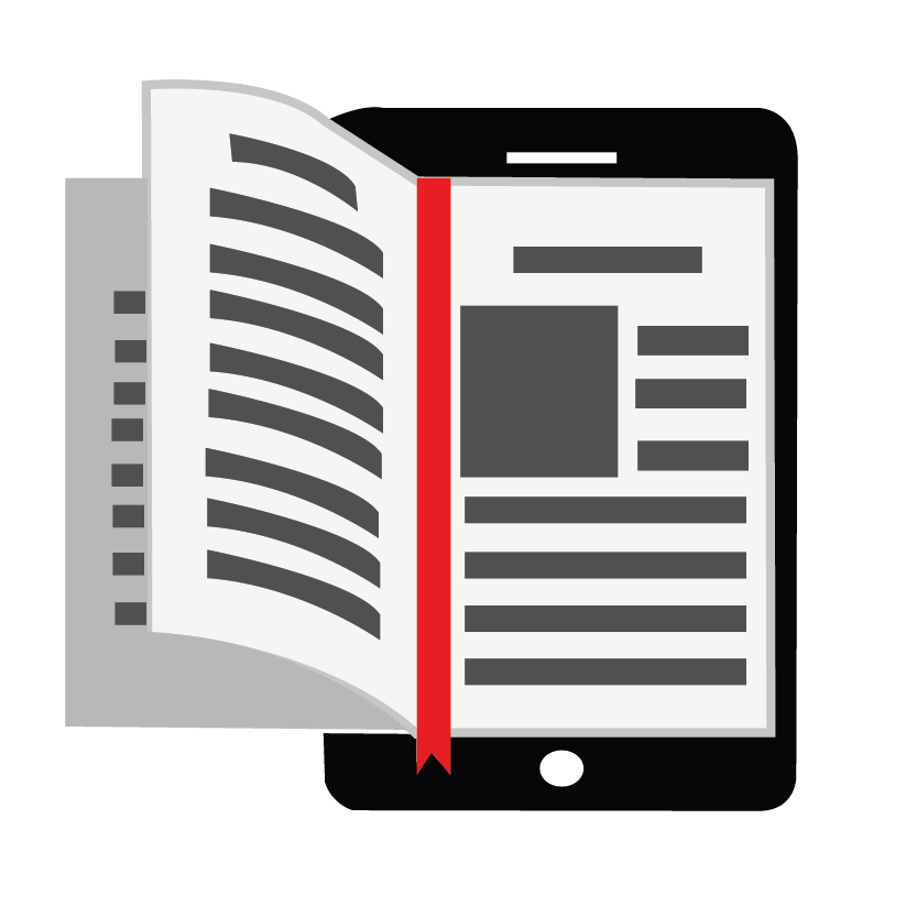 Easy readable ebook pages flipping out of a ebook reader